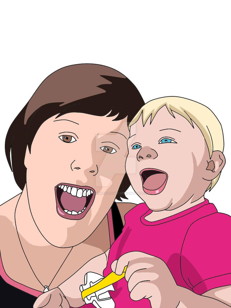 Request: My sister and her baby by La-Thanatologue