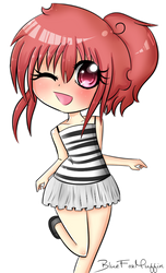 Request for BlueFoxMuffin - OC Chibi by ThePhantomCookie