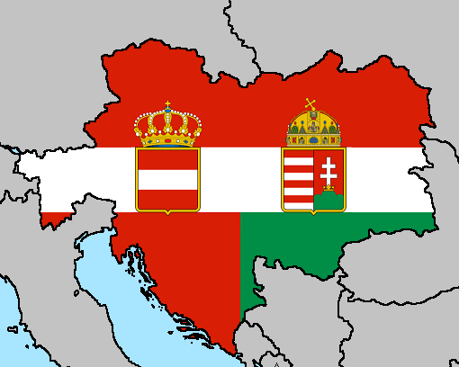 Austria-Hungary Flag Map by LtAngemon