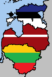 The Baltic States Flag Map by LtAngemon on DeviantArt