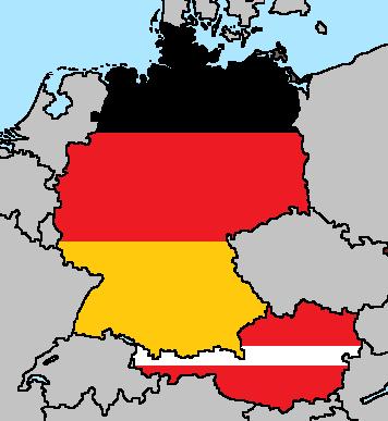 Germany Austria Flag Maps By LtAngemon On DeviantArt - Austria germany map