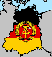 East Germany Flag Map by LtAngemon