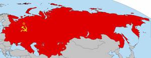Soviet Union Flag Map