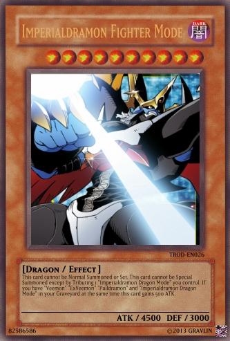 Yugioh Card Imperialdramon Fighter Mode by LtAngemon on ...