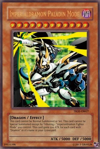 Yugioh Card Imperialdramon Paladin Mode by LtAngemon on ...