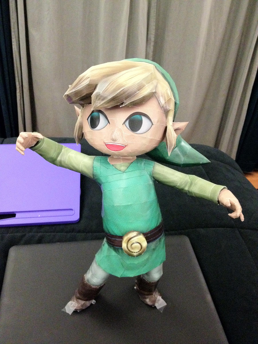 Wind Waker Link Papercraft by peachfuzz22