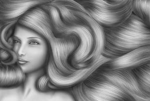 my first hair drawing