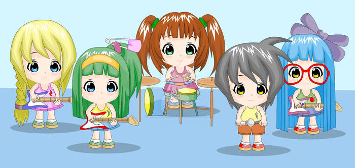 CHIBI ROCK BAND animation musical