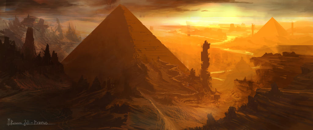 Sunset-pyramids-72dpi by Butteredbap