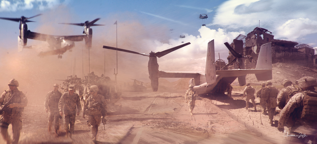 V22 Troops by Butteredbap
