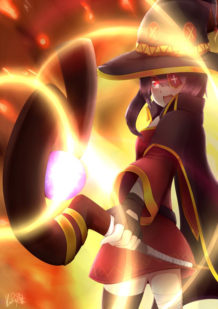 EXPLOSION!! - Megumin, Konosuba by Rokuuso