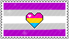 Identity Stamps - Gray-asexual Panromantic by boopnugget