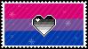 Identity Stamps - Bisexual Heteroromantic