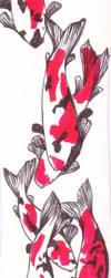 Bookmark Tri Coloured Koi by jkngai