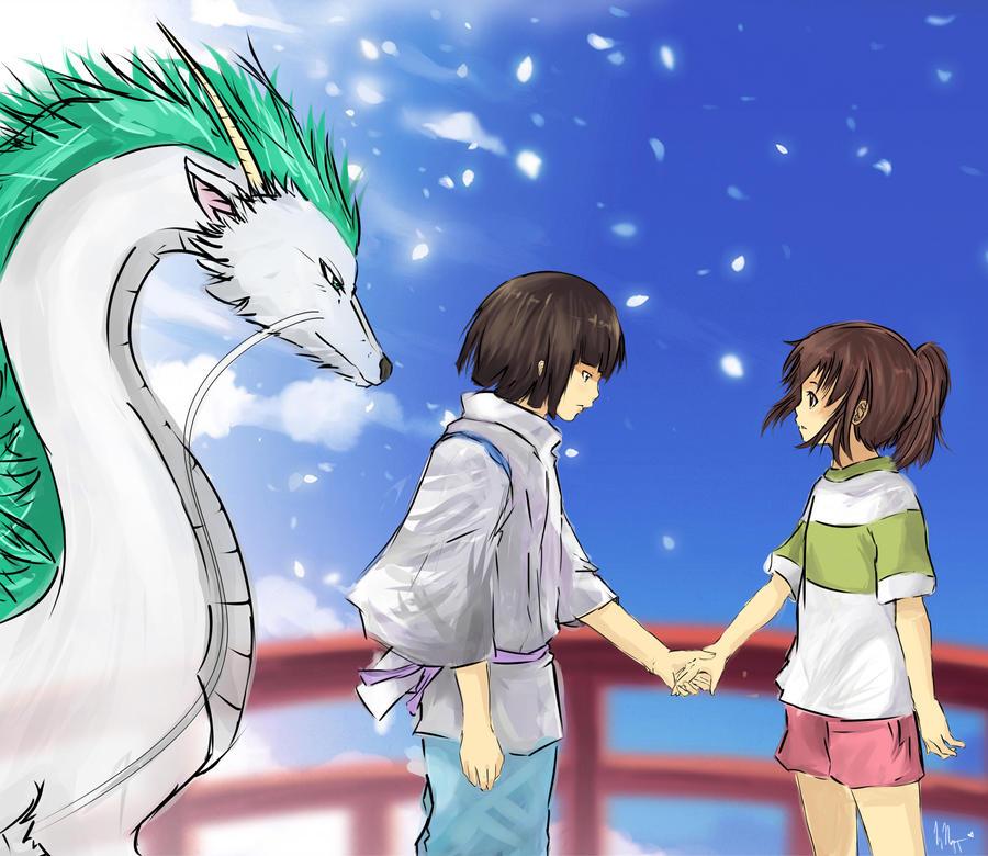Haku and Chihiro by Vietii