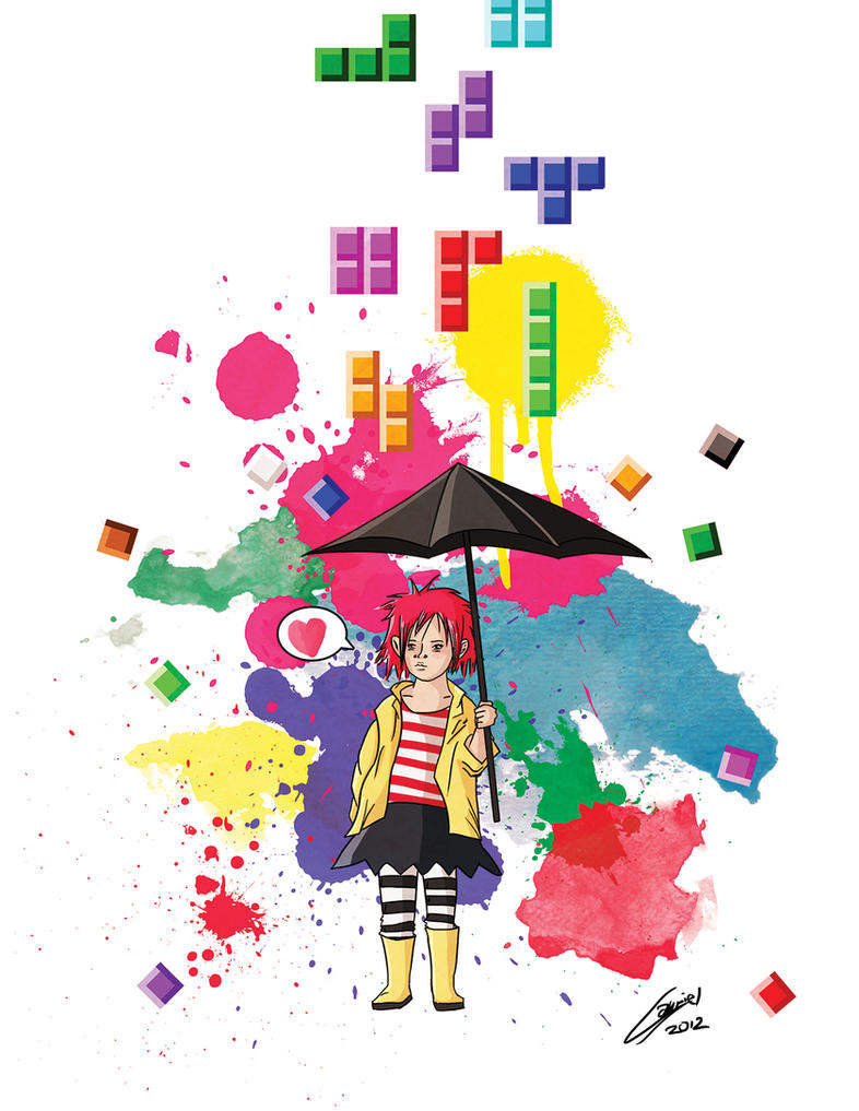 Tetris Girl by ZombiMonkey