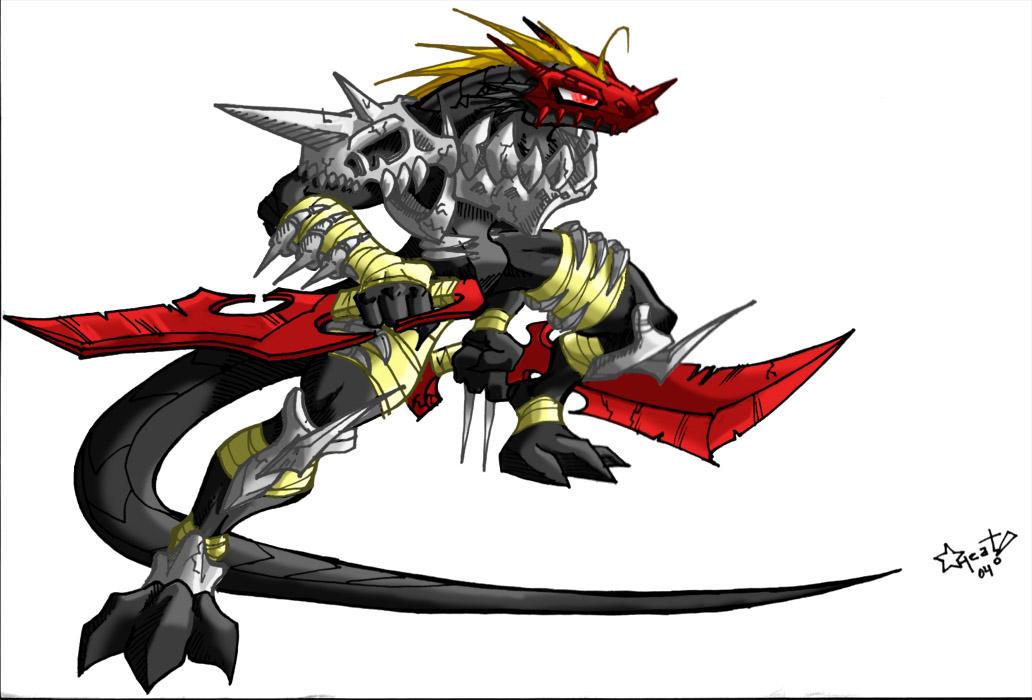 Lizard Warrior by heat-dash