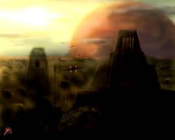 Battle of Yavin by DarthTemoc