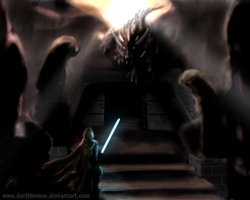 Revan on Korriban by DarthTemoc