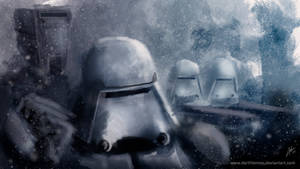 Episode VII - Snowtrooper by DarthTemoc