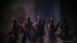 Mandalorians by DarthTemoc
