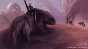 Greater krayt dragon by DarthTemoc