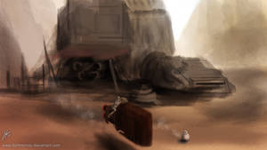 Rey and BB-8 by DarthTemoc