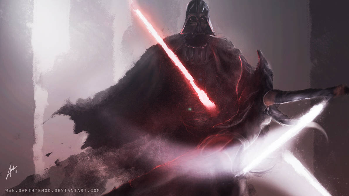 Darth Vader vs Ahsoka Tano by DarthTemoc