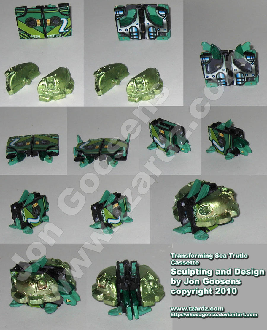 Transformers Custom Turtle Toy by whodagoose