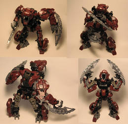 Zoids Bionicle Kitbash Tiger by whodagoose
