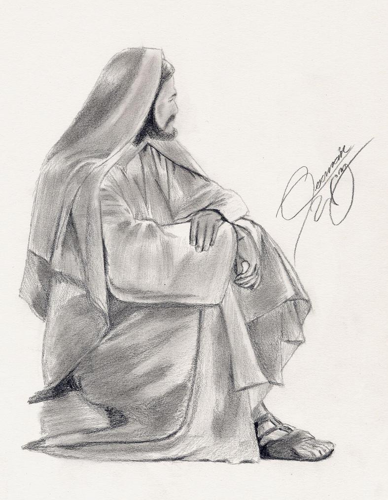 Jesus Simple Drawing Fast Drawing of Jesus by