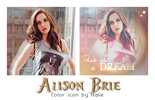 Color Icon Alison Brie by fairypoetess