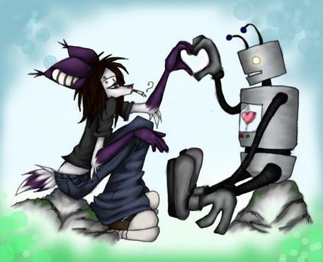 Mo and a robot by dancefloorwhore