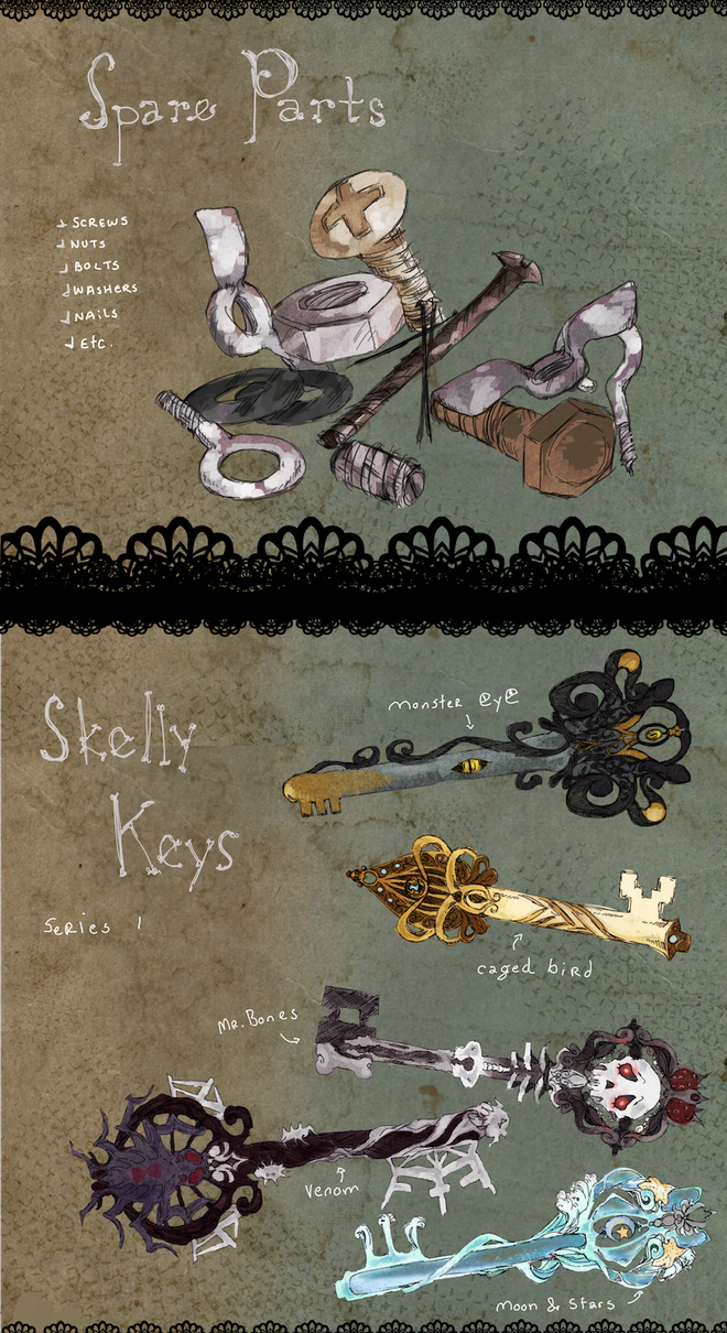 MAGE: spare parts and skelly keys by frappuu
