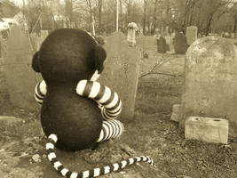 Sock Monkey Afterlife by Ramarih