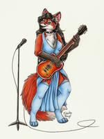 Cassie the Rock Vixen by SilentRavyn