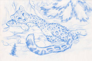 Ice and Snow -sketch- by SilentRavyn