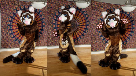 Finley the Marbled Polecat Fursuit
