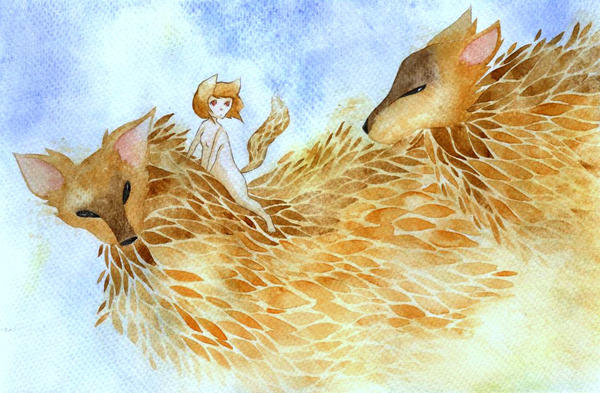 Fox spirits by rokkihurtta