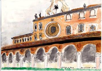 Certosa di Pavia - Big Cloister - Italy by mjdezo