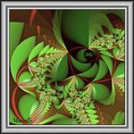 Green Leaves Framed