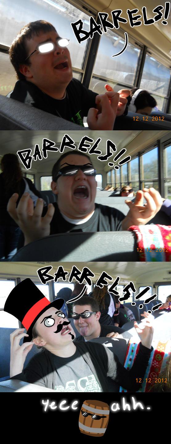 BARRELS! by Dino-blankey