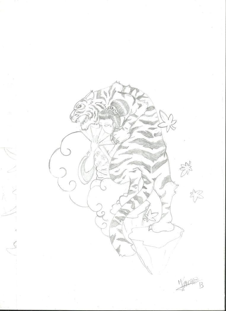 Tiger Geisha by TorpedoSharkchez