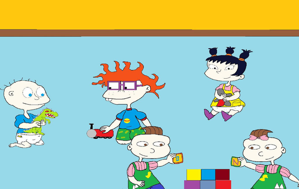Tommy Chuckie Kimi Phil and Lil by RugratsKid91 on DeviantArt