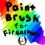 Thick paintbrush brush for FireAlpaca