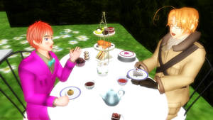 MMD_Tea-Party: 2p!England and Canada