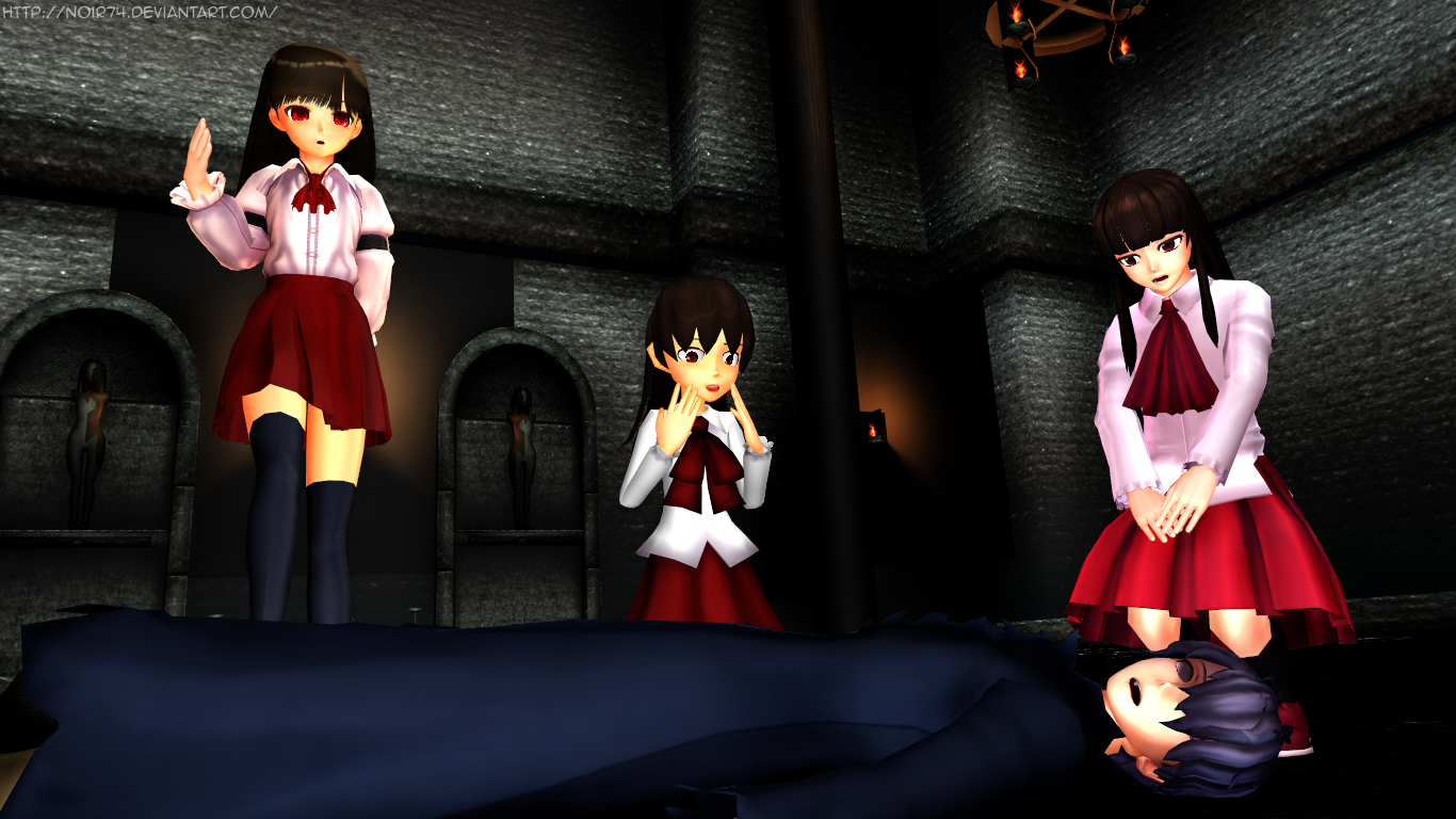 MMD Ib_OMG There're 3 of them! by Noir74