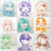 Headshot Requests Collage #2 by Hellixn