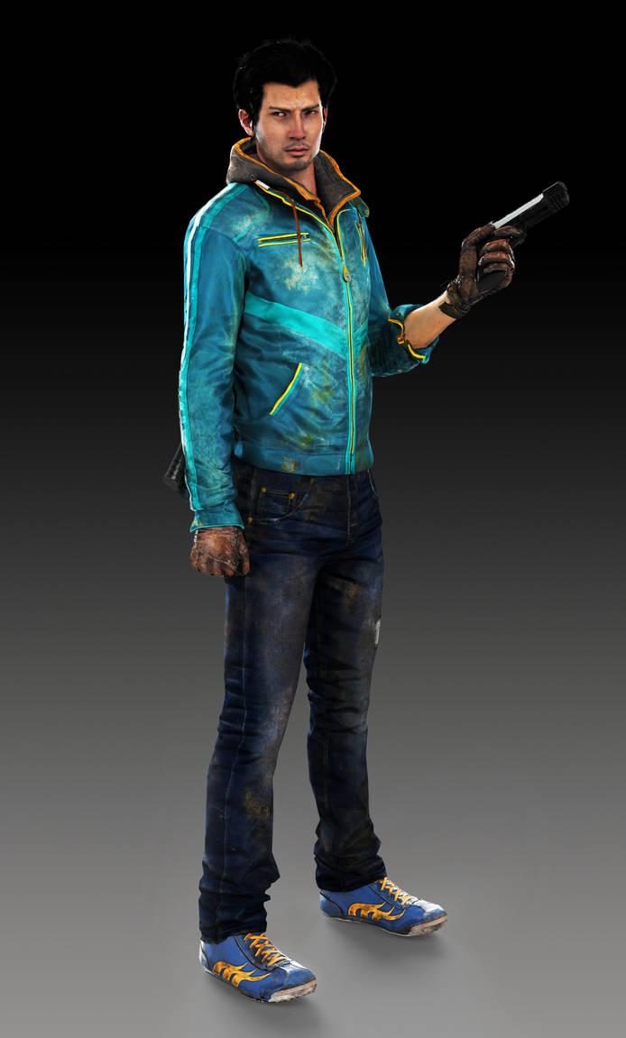 Ajay Ghale Far Cry 4 Blue Waxed Leather Jacket - William