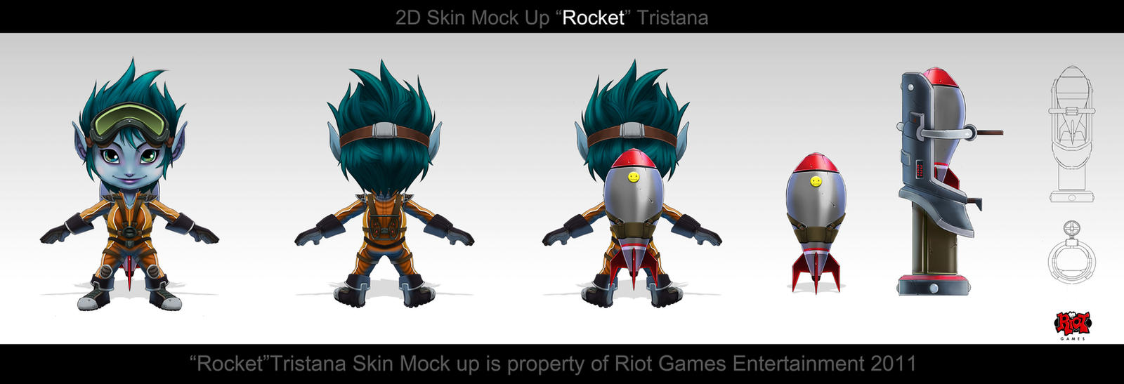 Rocket_Girl_Tristana by The-Bravo-Ray
